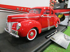 FORD DELUXE coupe 1940 rouge 1/18 MOTORMAX 3108RD voiture miniature d collection