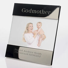 Personalised Godmother Godparent  Silver Plated Photo Frame 6x4 - Christening