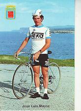 CYCLISME carte JOSE LUIS MAYOZ (equipe TEKA) 1977