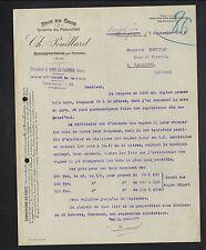 """BONNEFONTAINE prés MIREBEL (39) BOIS / SCIERIE du PATOUILLET """"C. POUILLARD"""" 1920"""