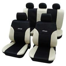 Beige & Black Leather Look Car Seat Covers - Opel Vectra C 2002 Onwards-Washable