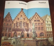 EUC  Vintage Lufthansa Frankfurt Germany  Street Map & Tourist Info Guide Book