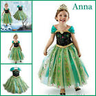 Kids Girls Dresses Queen Elsa Frozen dress costume Princess Anna Party AGE 3-8Y