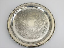 vintage ACADEMY silver on copper serving tray #155 1920's 1930's