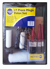 17 Piece mega value set Spot on decorating and painting paint brush roller frame