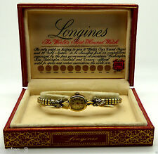 Longines 10 Ct Gold Wristwatch With Original Box & Good Working Condition