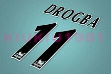 Chelsea Drogba #11 PREMIER LEAGUE 97-06 Black Name/Number Set