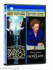 THE KING'S SPEECH + THE IRON LADY (WS) *NEW DVD*