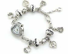 1pcs Charm Crystal Watch Bracelet Fit European Bead 20cm FreeShip WP023