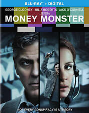 Money Monster Bluray disc/case/cover only-no digital- 2016 Clooney Roberts PV