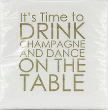 Mary Phillips Designs Beverage Napkins, Champagne 20Ct # 20147