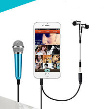 Mini Microphone Blue Mike Buble Sing Karaoke KTV Portable Smart Phone Accessory