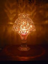 Vintage Home Interiors Crystal Tealight Lamp ~ Excellent Pre-Owned Condition