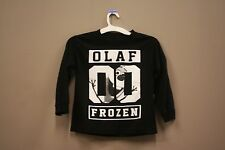 OLAF 00 FROZEN BLACK T-SHIRT...MARVEL..FOR KIDS..SIZE: LARGE..A.D.