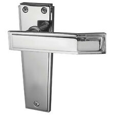 Art Deco Polished Chrome Lever Latch Door Handles JV254PC
