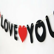 Popular Hot Black and Red Non-woven I LOVE YOU Propose Decoration Women Wedding