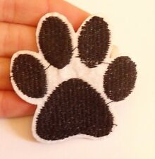1 dog paw cat bear patches applique iron on sew on motif patch hotfix UK