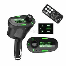 LCD Wireless Car kit FM Transmitter MP3 Player Radio Modulator USB SD TF Remote