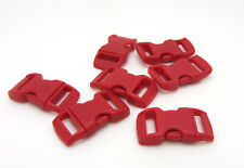 "10pcs 3/8"" Curved Side Release Plastic Buckle  for Paracord Bracelet Red  QW10"