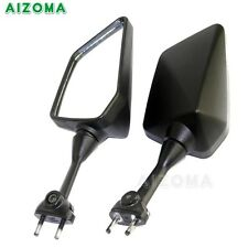 Pair Motorcycle Black Rear View Side Mirrors For Kawasaki Ninja 250R EX250 08-13