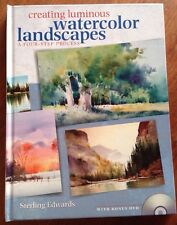 Creating Luminous Watercolor Landscapes Sterling Edwards 2010 HB Book SIGNED DVD