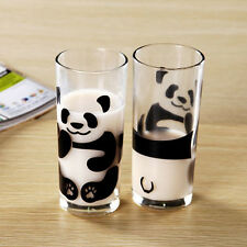 300ml Creative cute panda milk Glass cup Tea Mugs Drinking cup coffee cup
