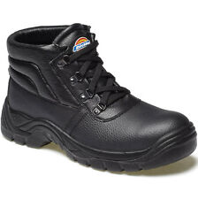 DICKIES REDLAND STEEL TOE CAP SAFETY BOOTS UK 11 EU 45 FA23330 BLACK CHUKKA
