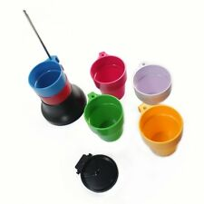 Rainbow Stackable Cascading Plastic Mug Cups Set 6pcs (S)