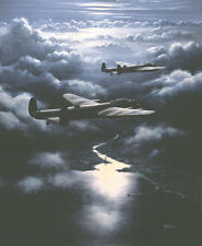 "Avro Lancaster Bomber Command Aviation Aircraft Painting Art Print - 18"" Print"