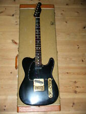 "FENDER limited BLACK and GOLD TELECASTER w/EMG"" 1981 w/Had Case ship from JAPAN"