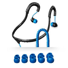 H2O Audio IEN2-BK Surge Sport Waterproof In-Ear Buds Headphones (Black/Blue) NEW