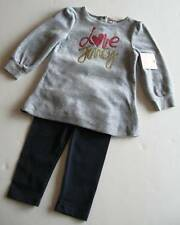 Juicy Couture Baby Girls Gray/Navy Velour Leggings Set (3-6M) NWT