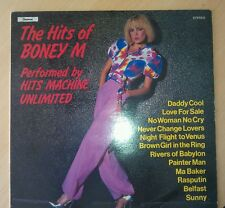 "HITS OF BONEY M PERFORMED BY HITS MACHINE UNLIMITED 12"" RECORD FOR SALE !!"