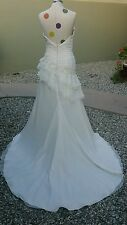 EDEN BRIDALS white sweetheart neckline  WEDDING BRIDAL GOWN DRESS w/beads size 6