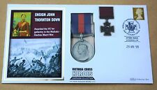 VICTORIA CROSS HEROES ENSIGN JOHN THORTON DOWN 2009 BENHAM REPLICA MEDAL COVER