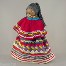 Seminole Indian Doll Cloth-Wrapped Palmetto Fiber Husk Made by Seminole Tribe–23
