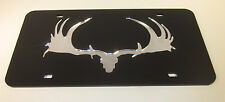 Moose Antlers Canadian Hunting mirror license plate laser cut acrylic chrome