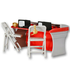 Red Commentators Table Playset - Wrestling Figure Accessories WWE/TNA