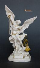Statua di San Michele Arcangelo, effetto Capodimonte 22cm
