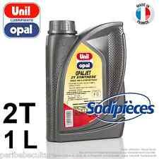 Huile moteur 2 temps Unil Opal OPALJET pour tronçonneuse. 1 litre