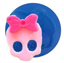 Skull with Bow Mini Silicone Mold for Fondant, Gum Paste, Chocolate F059