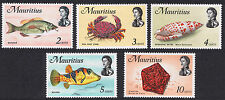Mauritius Mint Stamps 1969 Marine Life SG382 to SG386