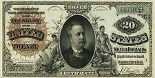PHOTO MAGNET USA Reproduction 1886 20 Dollars Silver Certificate MAGNET