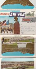 THE AIR FORCE ACADEMY  2-SIDED STRIP OF 10 POSTCARD-SIZE VIEWS