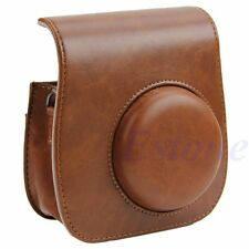 Coffee Camera Leather Shoulder Strap Bag Case Pouch For Fujifilm Instax Mini 8