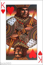J.M.W. CHRZANOSKA  King of Hearts Playing Card Poster