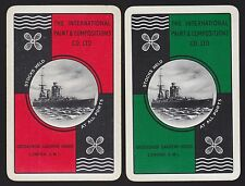2 SINGLE VINTAGE SWAP PLAYING CARDS INT. PAINTS & COMPOSITIONS BATTLE WAR SHIPS