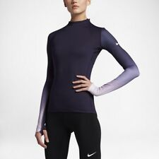 Nike Pro Hyperwarm Women Purple Long-sleeve Training Thermal Top, Medium, BNWT