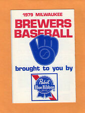 1979  MLB BASEBALL MILWAUKEE BREWERS GAME POCKET SCHEDULE