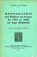 Catalogue des Timbres de France au type Semeuse de 1903  et 1906